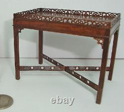 Gerald Crawford Vintage Dollhouse Miniature Chinese Chippendale Table ONLY