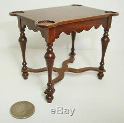 Gerald Crawford Vintage Dollhouse Miniature William & Mary Game Table Exc. Cond