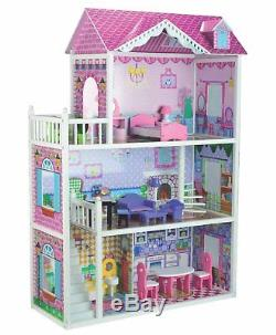 Girl Barbie Doll House Set Bubbadoo Wooden Large Baby Toy Playhouse