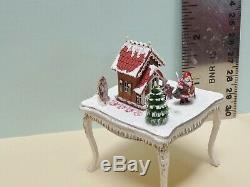 Gorgeous 1144 Scale Miniature Putz House on Table