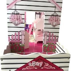 Grande Legno Casa Delle Bambole Barbie Casa Dei Sogni Puppenstube Set con Mobili