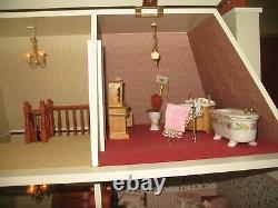 Grosvenor Hall Dolls House 1/12th Scale With Quality Furniture