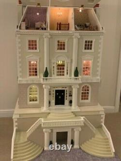 Grosvenor Hall dolls house PLUS basement professionally built and decorated