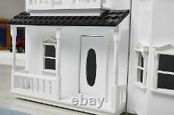 HILIROOM Wooden Dolls House Cottage, Victorian Kids Gift Doll House UK STOCK
