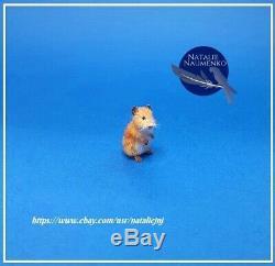 Hamster OOAK Handsculpted Realistic Miniature Dollhouse 112 Handmade cat dog