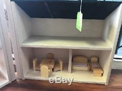 Hand Made Folding Doll House with Wood Furniture