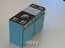Hand-Made OOAK LaCanche Stove Dollhouse Miniature Robin Egg Blue (112 scale)