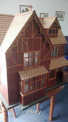 Hand made large dolls house with electric lighting