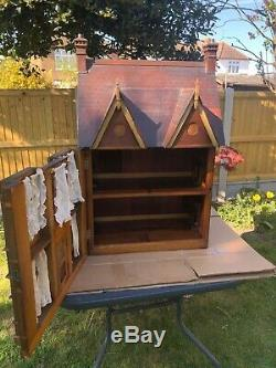 Hand made victorian antique dolls house, D. O. B 1850 (Approx)