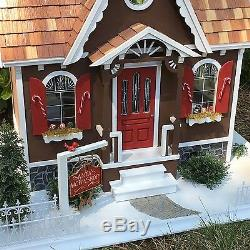 Handcrafted Wooden Santa's North Pole Christmas Dollhouse #19920