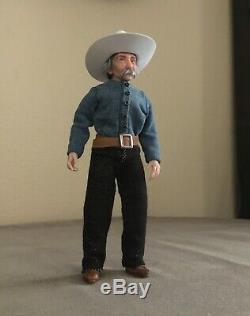 Handcrafted miniature 112 OOAK doll cowboy farmer f/dollhouse. ALMA Artistry