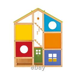 Hape All Season Wooden Dollhouse with 6 Rooms, Wooden Furniture, Ages 3+ Years