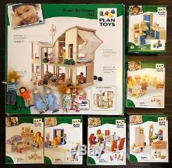 Holz-Puppenhaus PlanToys Green Dollhouse mit viel Zubehör