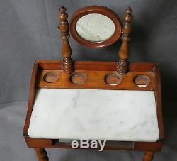 JOLIE TABLE DE TOILETTE DE POUPÉE 19éme 35 cm HAUT
