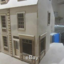 James Row House with Corner Shop 12th scale Dolls House Kit By DHD