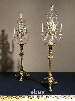 John Hodgson Dollhouse Miniature Pair Torcheres With A Pair Of Candelabra 112