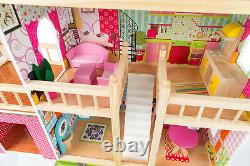 KINDERPLAY wooden dollhouse furniture accessories + LED light GS0020