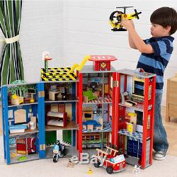 KidKraft 63239 Helden des Alltags Spielset aus Holz / Puppenhaus
