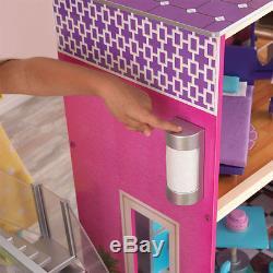 KidKraft 65833 Modernes Puppenhaus Uptown mit Zubehör Puppenstube