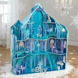 KidKraft 65880 Disney Frozen Puppen-Haus Olaf Puppe Eiskönigin Eisschloss Palast