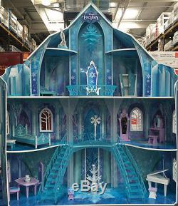 KidKraft Disney Frozen Snowflake Mansion Wooden Kids Dolls House Furniture Anna
