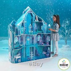 KidKraft Disney Frozen Snowflake Mansion Wooden Kids Dolls House Furniture ELSA