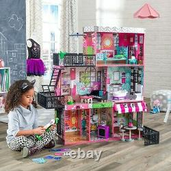 KidKraft Majestic New York Mansion Dollhouse with 25 Accessories Kids Girls Play