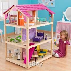 KidKraft Puppenhaus So chic Puppenstube Dollhouse 10 Zimmer Holz 65078