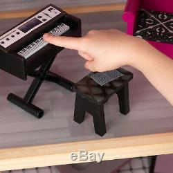 KidKraft Sparkle Mansion Dollhouse Furniture Kids Houses Play Pretend 30 Pieces