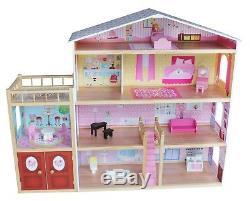Kiddi Style Huge Modern Villa Dolls House Wooden & Furniture Fits Barbie