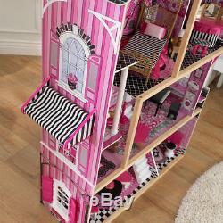 Kidkraft Bella Wooden Kids Dolls House & Furniture Fits Barbie Dollhouse