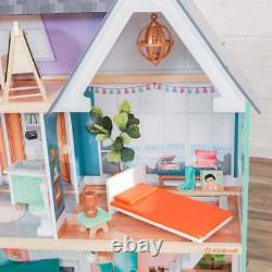 Kidkraft Dahlia Mansion Dollhouse with EZ Kraft Assembly Includes Accessories
