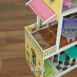 Kidkraft Florence Dollhouse, Wooden Doll house fits Barbie Sized Dolls