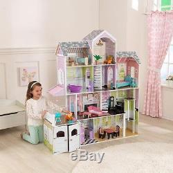 Charmant Kidkraft Grand Estate Wooden Girls Dolls House Furniture Fits Barbie  Dollhouse