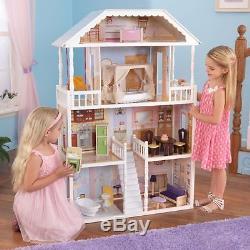 Kidkraft Holz 65023 Puppenhaus Savannah Barbiehaus inkl. Möbel Zubehör