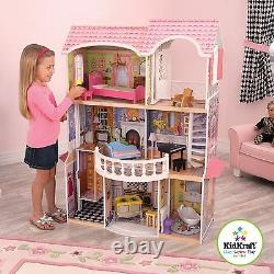 Kidkraft Magnolia Mansion Wooden Dollhouse with Lift fits Barbie Dolls