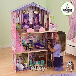 Kidkraft My Dream Mansion Wooden Dollhouse with Lift fits Barbie Sized Dolls