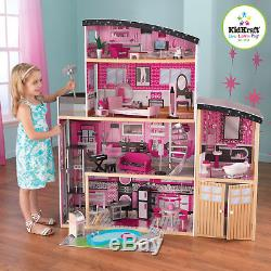 Kidkraft Sparkle Mansion Large Wooden Dollhouse With Pool