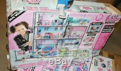 L. O. L LOL Surprise House Wood Dollhouse (Distress Packaging-New inside)