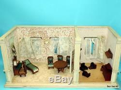 LARGE CHILDRENS ANTIQUE GERMAN DUTCH DOLLHOUSE 1920s GERMAN LIVING ROOMS