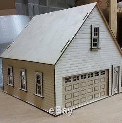 Lansdowne 112 scale Dollhouse 2 car garage/workshop