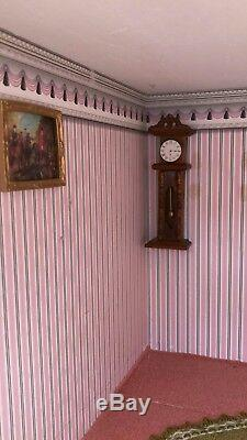 Large Beautiful Victorian Georgian 4 Story Wooden Dolls House Hand Made