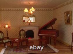Large Edwardian Dolls House 12 rooms-fully lit