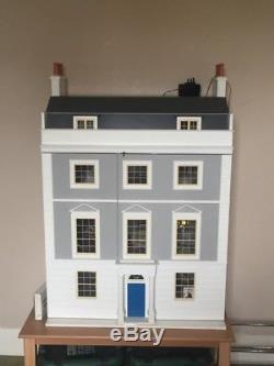 Large Furnished Dolls House Beautifully Decorated With Electrics. Collector Item