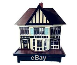 Large Vintage Dolls House on Original Stand with Electrics