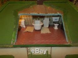 Large Vintage Dolls House with loads of items inside