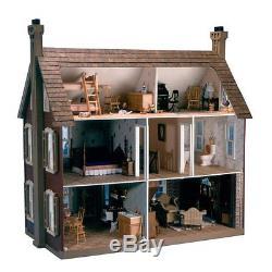 Large Wooden Doll House Vintage Victorian Kit Wood Dollhouse Diy