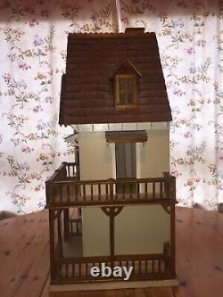 Large Wooden Victorian Style Dolls House with Furniture, Used Very Authentic