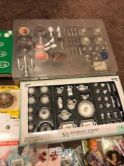 Lot of Vintage Old Dollhouse Miniatures Accessories Huge Lot