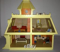 MATTEL The Littles Dollhouse 1980's House and Random Furniture 25 Piece Lot